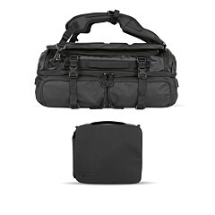 Wandrd Hexad Access Duffel Backpack Black Bundle