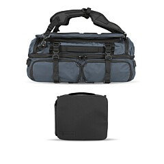 Wandrd Hexad Access Duffel Backpack Blue Bundle