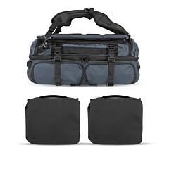 Wandrd Hexad Access Duffel Backpack Blue Pro Bundle