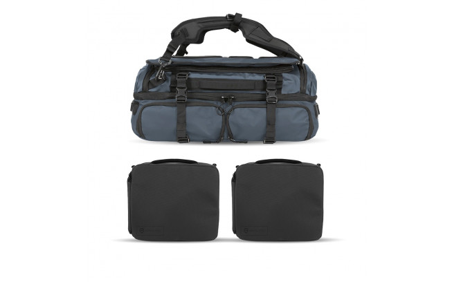 Wandrd Hexad Access Duffel Backpack Blue Pro Bundle-1