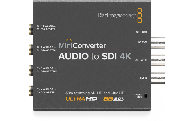 Blackmagic Mini Converter - Audio to SDI 4K **Open Box**-6