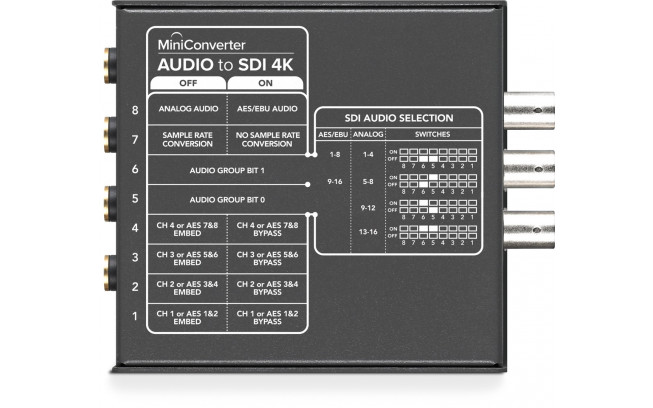 Blackmagic Mini Converter - Audio to SDI 4K **Open Box**-2