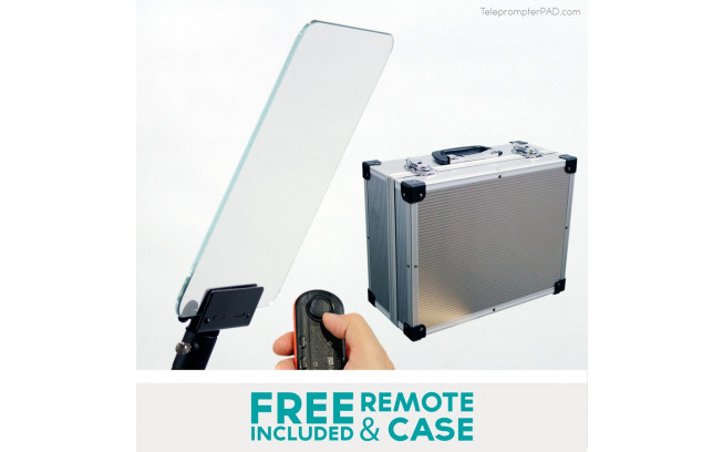TelePrompterPad IPresent Pro with remote and transport case-2